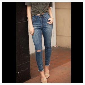 One teaspoon authentic indigo distressed Jeans